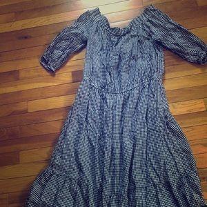 Off shoulder Old Navy Gingham dress worn once